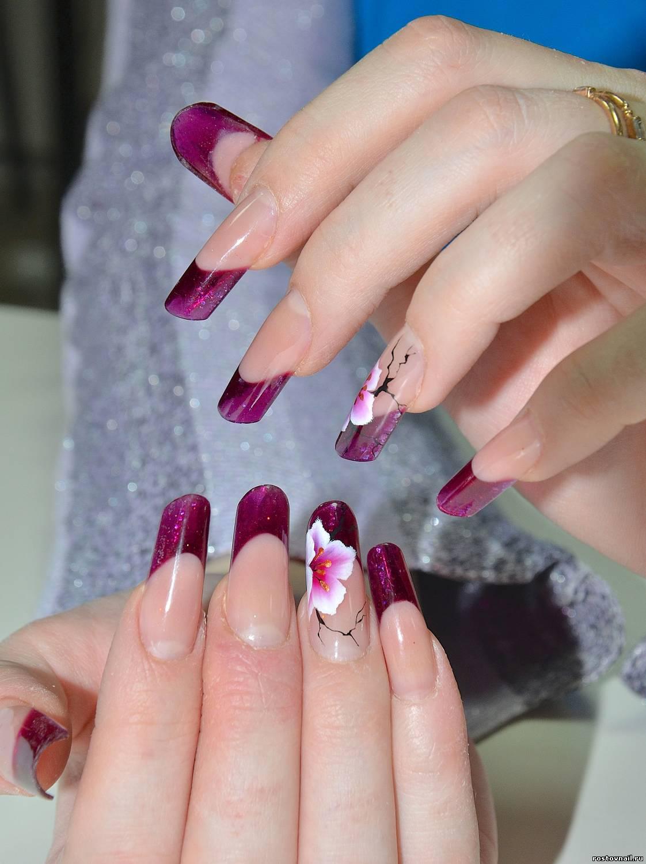 Как украсить нарощенные ногти фото